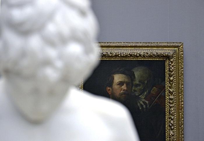 Fabian Fröhlich, Berlin, Alte Nationalgalerie, Arnold Böcklin, Selbstbildnis mit fiedelndem Tod
