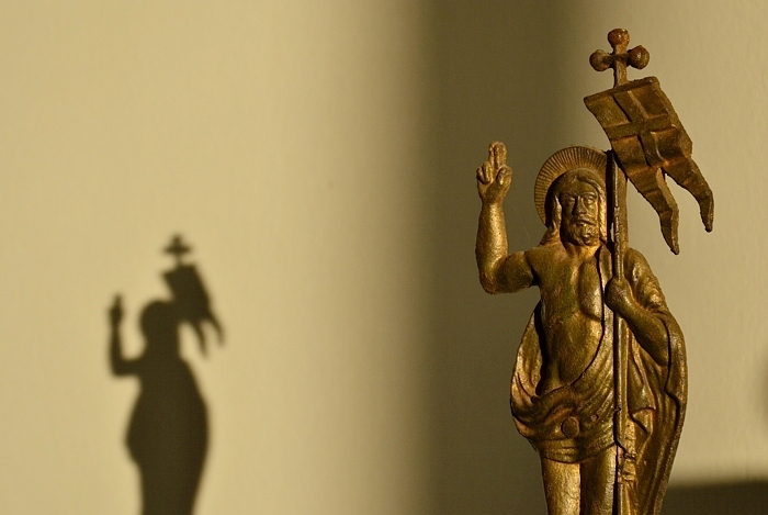 Fabian Fröhlich, Kassel, Museum für Sepulchralkultur, Christus salvator, Kreuzaufsatz