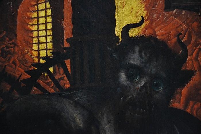 Fabian Fröhlich, Berlin, Gemäldegalerie, Jean Bellegambe, Triptychon mit dem jüngsten Gericht, Teufel