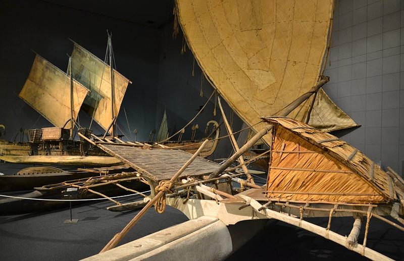 Ethnologisches Museum Berlin-Dahlem, Segelboot aus Melanesien