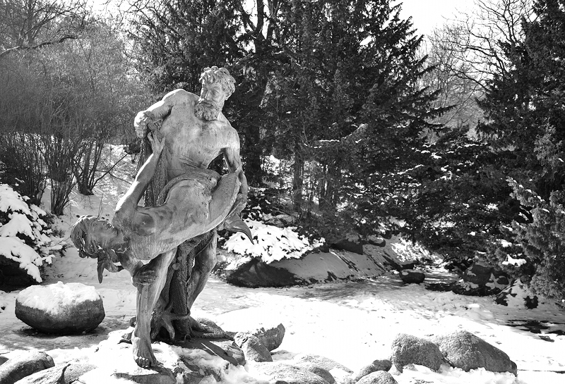Kreuzberg, Viktoriapark, Winter, Der seltene Fang von Ernst Herter, Fabian Frhlich