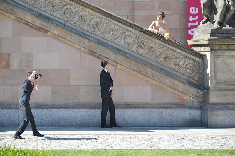 Alte Nationalgalerie Hochzeits-Fotoshooting