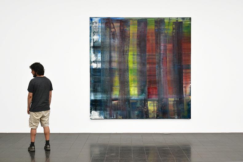 Hamburger Kunsthalle, Gerhard Richter, Abstraktes Bild