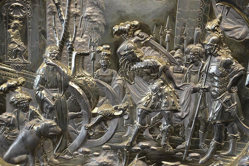 Museum für Kunst und Gewerbe, Hamburg, Silber, Relief, Alexander der Große zerschlägt den Gordischen Knoten