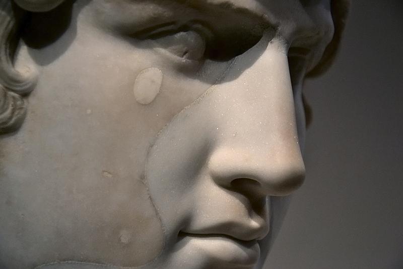 Berlin, Antikensammlung, Altes Museum, Römische Büste des Antinoos