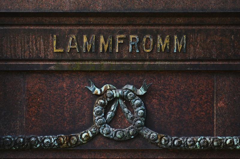 Jüdischer Friedhof Berlin Weißensee, Grabstein Lammfromm