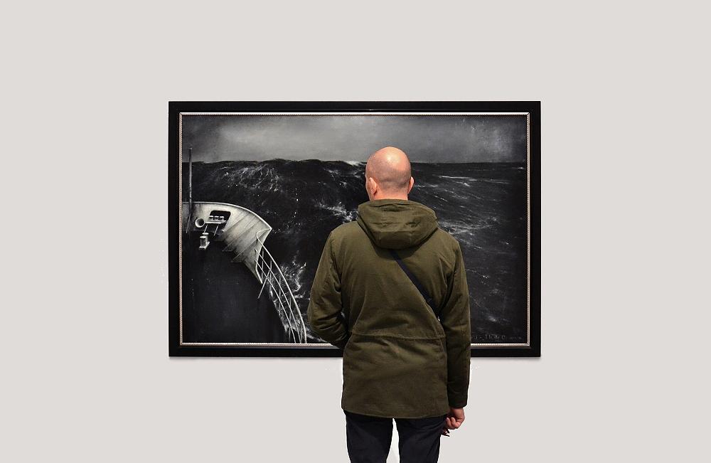Biennale Venice, 2013, Zentraler Pavillon, Thierry De Cordier, Tempete en Mer du Nord Etude No 3