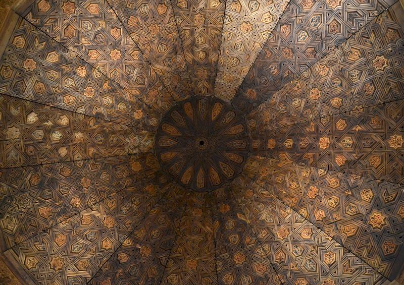 Berlin, Holzkuppel aus der Torre de las Damas der Alhambra (Museum für Islamische Kunst)