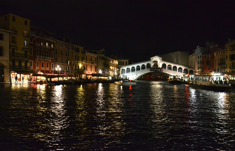 Venice at Night, Ponte di Rialto, Canal Grande