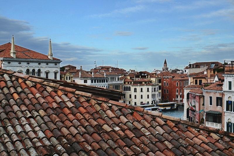 Venedig, Blick vom Ca' Rezzonico zur Station San Toma