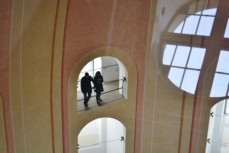 Dresden, Aufgang in der Kuppel der Friedenskirche