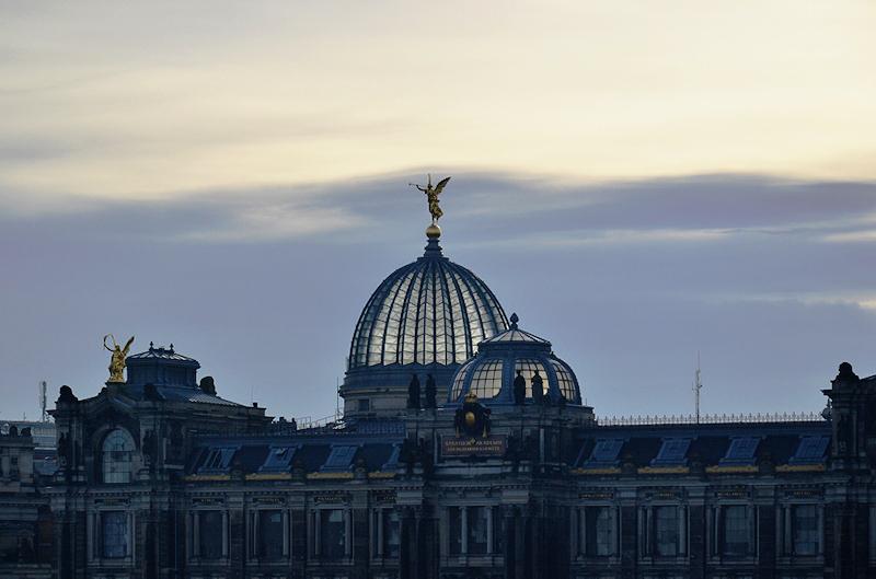 Dresden, Kuppel des Lipsiusbau und Kunstakademie