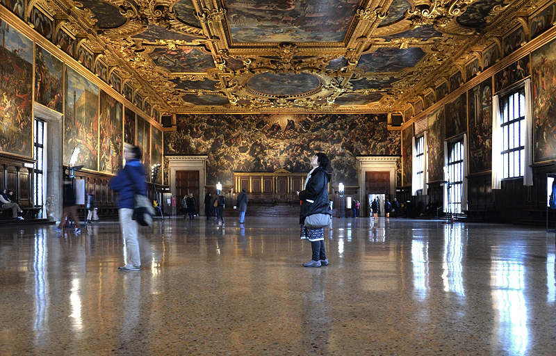 Venice, Palazzo Ducale, Saal des Großen Rates