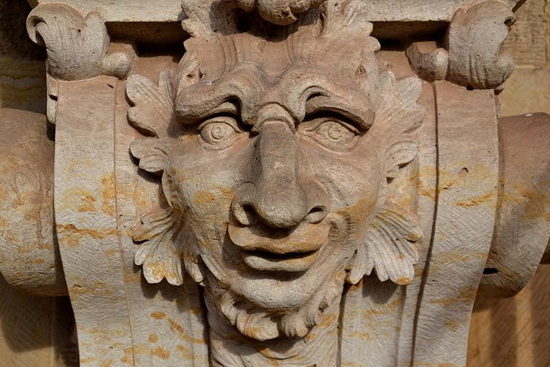 Zwinger Dresden, Skulptur, Maske am Wallpavillon