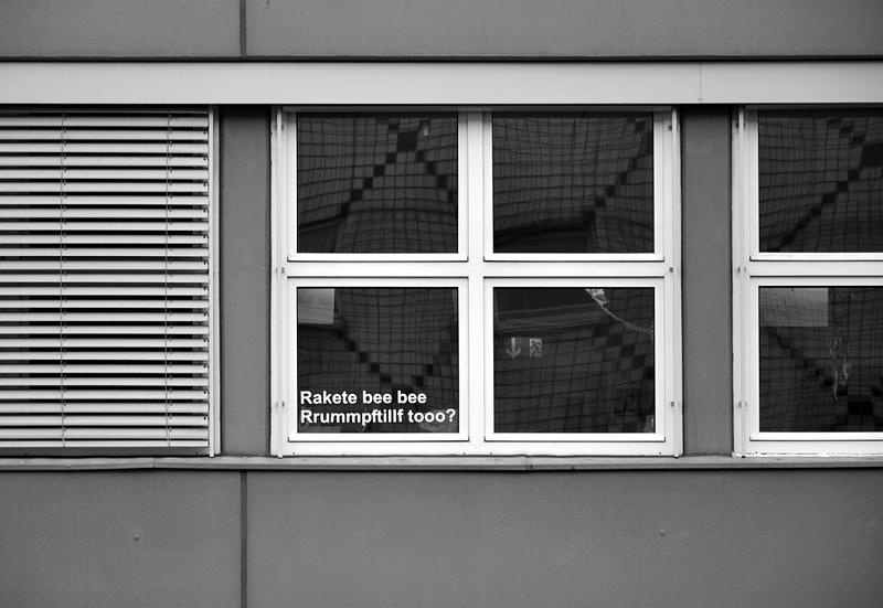 Berlinische Galerie, Zitat aus der Ursonate von Kurt Schwitters