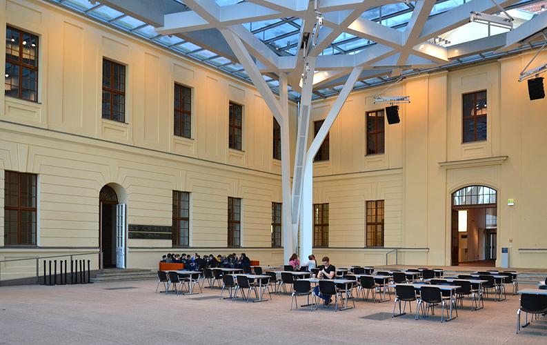 Jüdisches Museum Berlin, Daniel Libeskind, Glashof