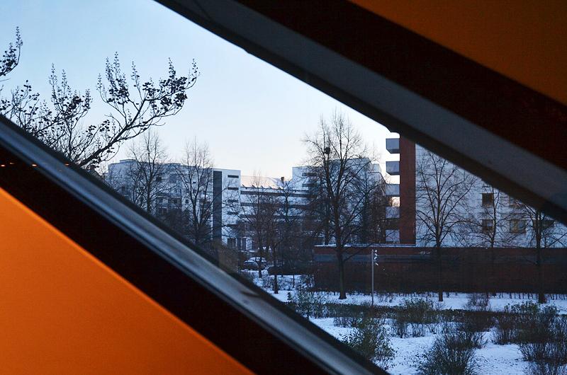 Jüdisches Museum Berlin, Blick zum IG-Metall-Gebäude von Erich Mendelsohn