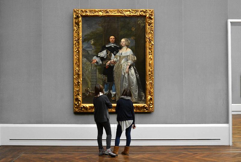 Gonzales Coques, Bildnis eines Ehepaares, Besucher in der Gemäldegalerie Berlin