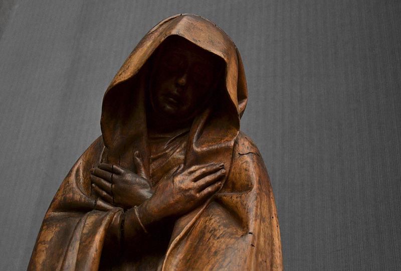 Gemäldegalerie, Bode-Museum, Skulptur; Maria aus einer Kreuzigung Christi