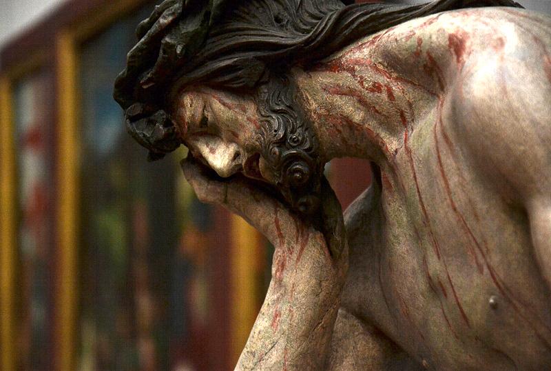 Gemäldegalerie, Bode-Museum, Skulpturen; Hans Leinberger, Christus im Elend