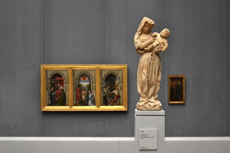 Gemäldegalerie, Bode-Museum, Skulpturen; Muttergottes mit dem Papagei