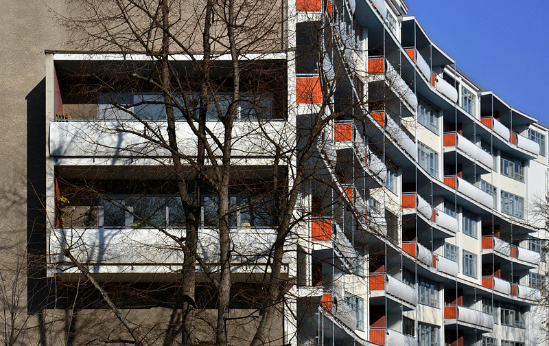 Hansaviertel Berlin, Interbau 1957, Zeilenbau von Walter Gropius