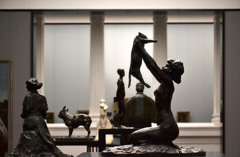 Rembrandt Bugatti, Alte Nationalgalerie, Frau mit Katze, Femme au chat