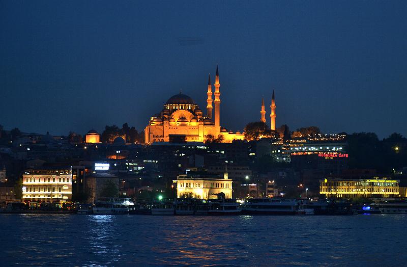 Istanbul, Süleymaniye-Moschee bei Nacht