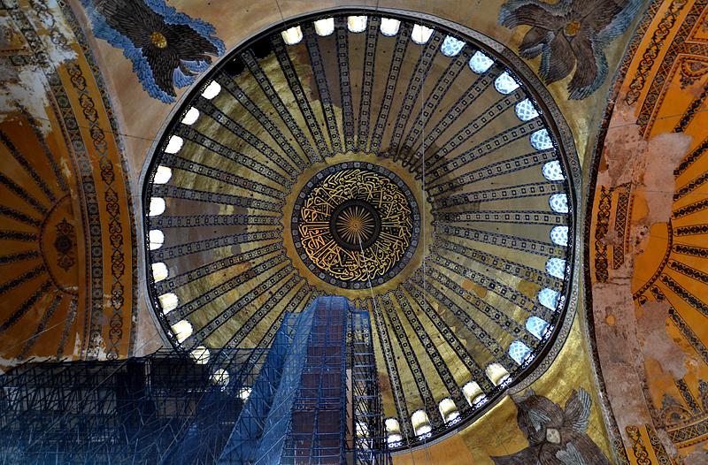 Istanbul, Hagia Sophia, Kuppel mit Seraphim