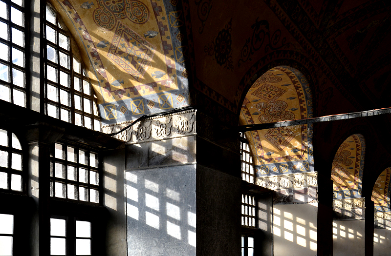 Hagia Sofia, Fenster in der Galerie