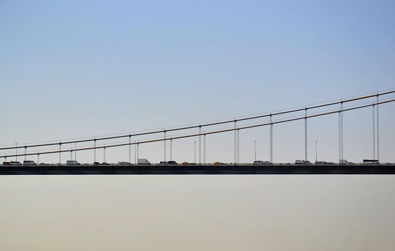 Istanbul, Bosporus-Brücke, Autoverkehr