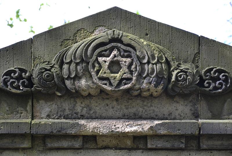 Jüdischer Friedhof Schönhauser Allee, Prenzlauer Berg, Berlin, Davidstern