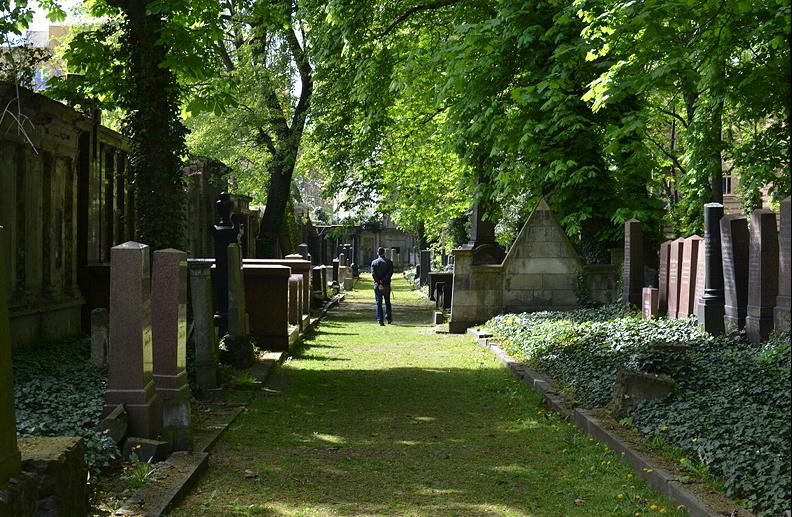Weg, Jüdischer Friedhof Schönhauser Allee, Prenzlauer Berg, Berlin