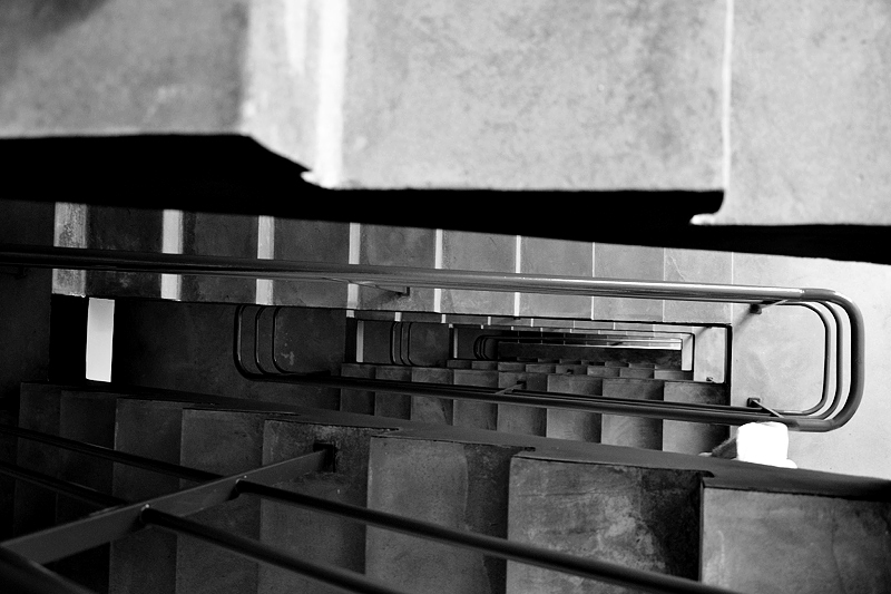 Bauhaus Dessau, Treppenhaus im Atelierhaus