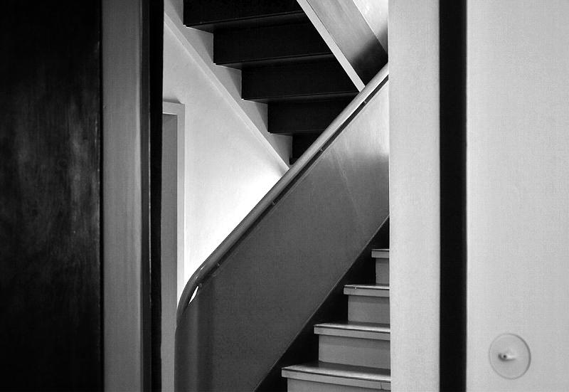 Bauhaus Dessau, Meisterhäuser, Treppenhaus, Haus Feininger