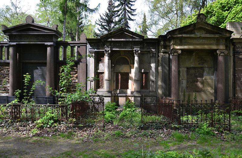 Georgenfriedhof, Berlin Greifswalder Straße, Wandgräber