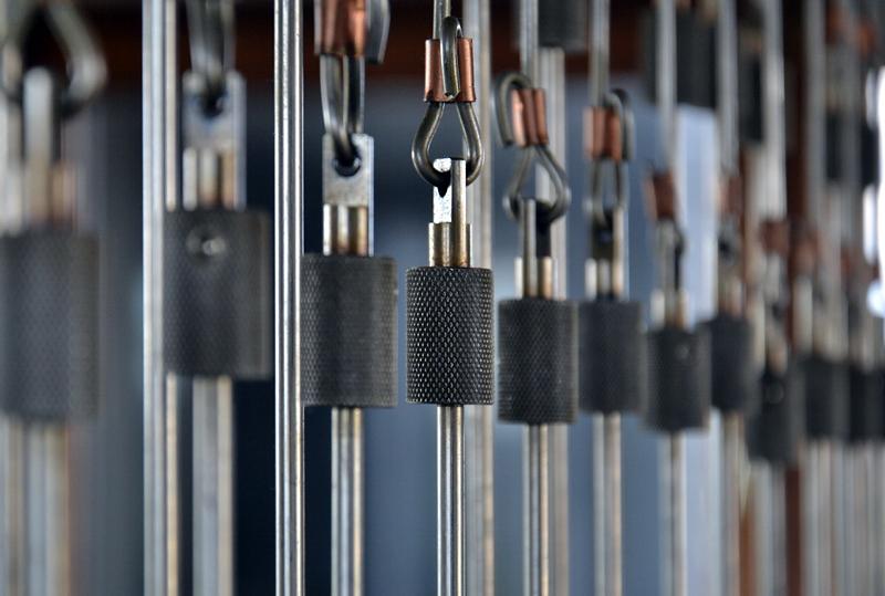 Seilzüge am Spieltisch, Carillon Berlin Tiergarten