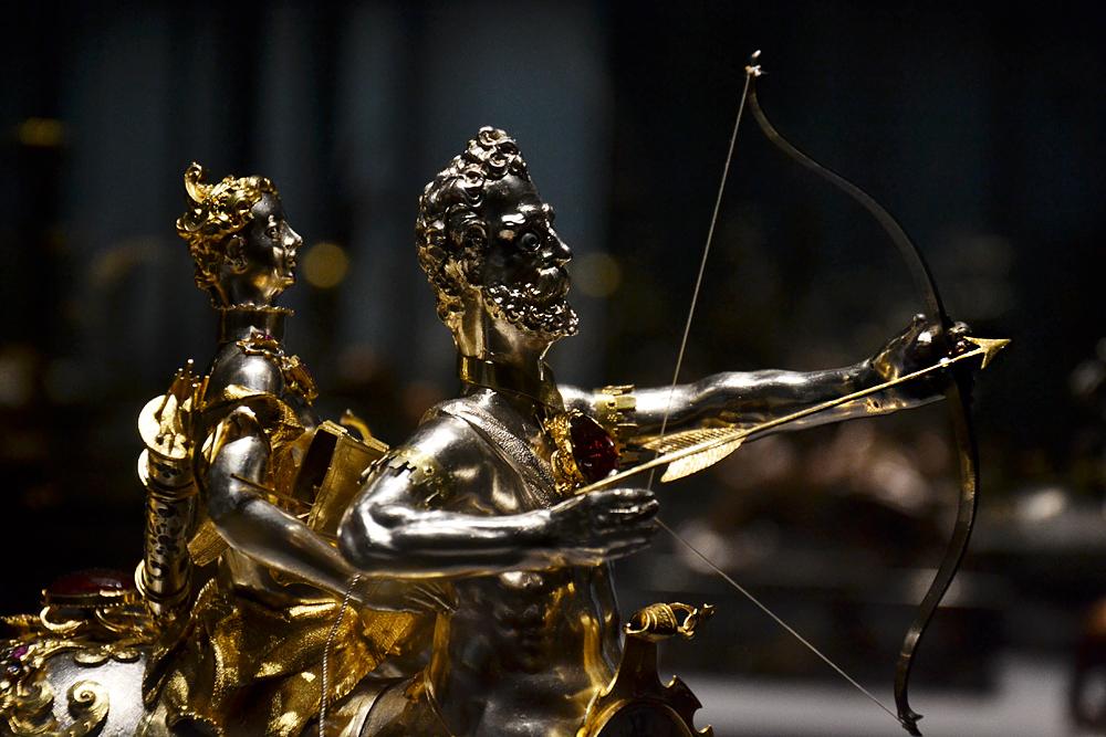 Kunstkammer Wien, Tischautomat mit Diana auf dem Kentauren von Hans Jakob I. Bachmann
