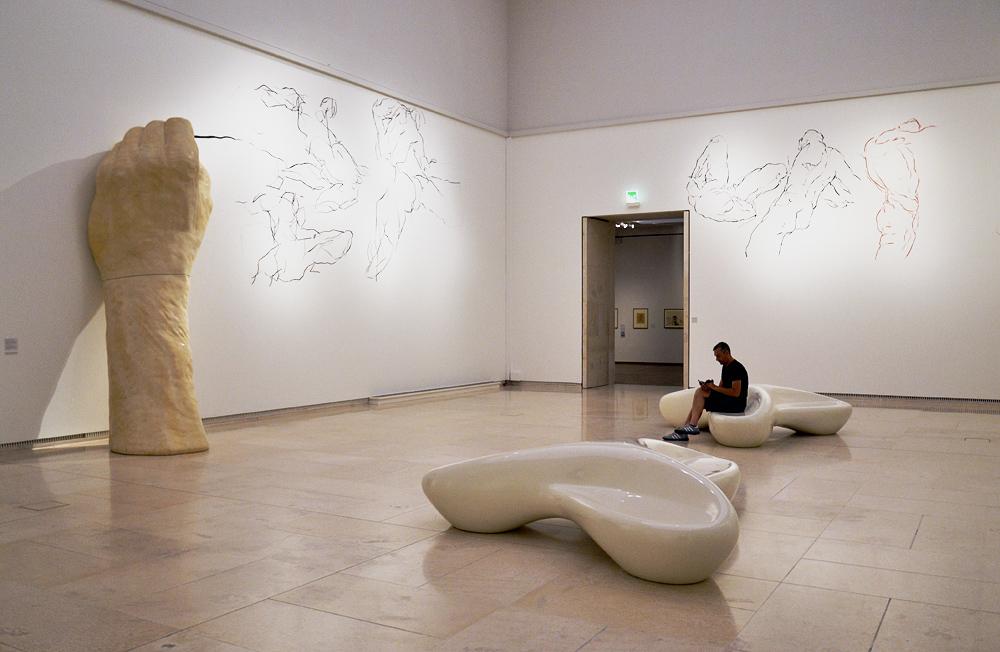Ausstellung Linie und Form, Hannes Mlenek, Seismogramm der Erregung (Leopold Museum Wien)