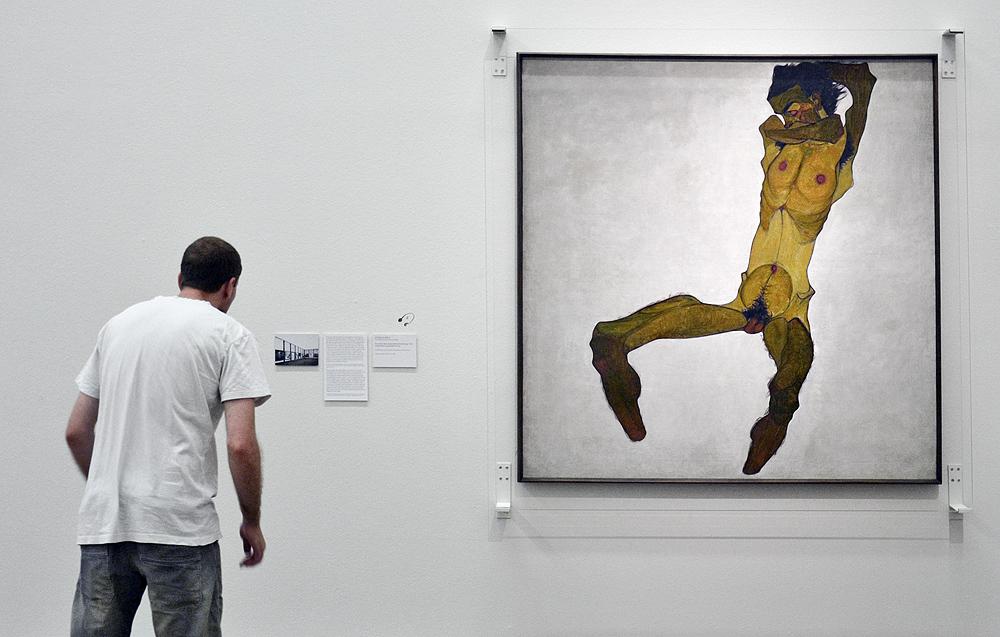 Egon Schiele, Sitzender männlicher Akt / Selbstbildnis (Leopold Museum Wien)