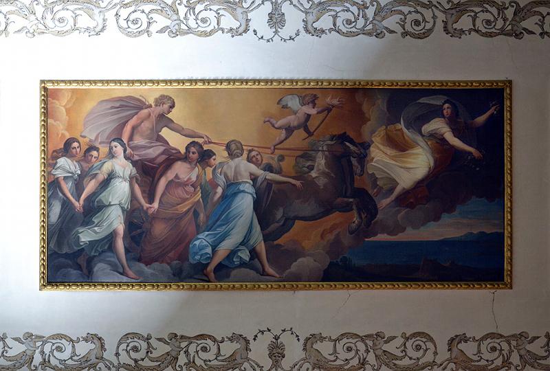 Deckengemälde in Schloss Wörlitz (Kopie nach Apollo folgt Aurora von Guido Reni)