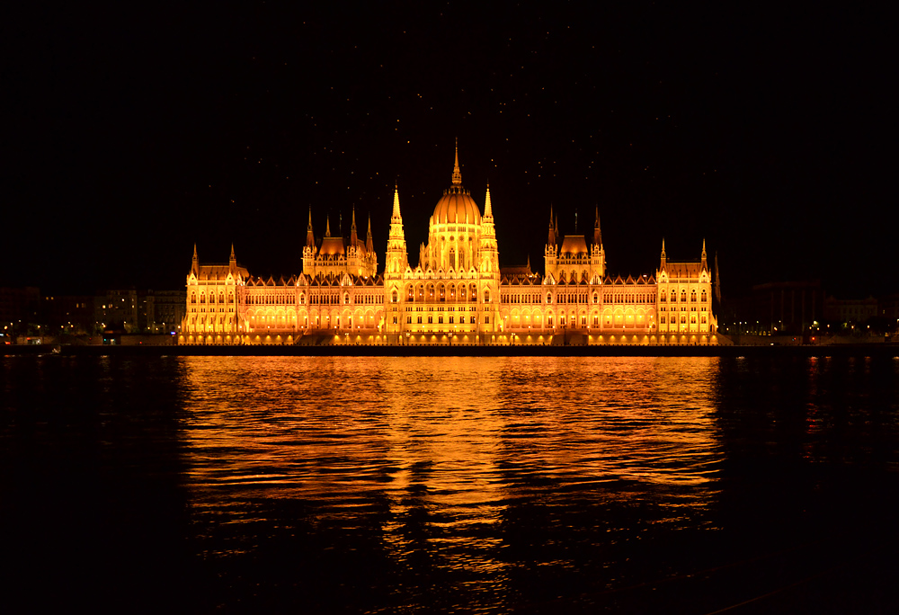 Budapest, Parliament at Night