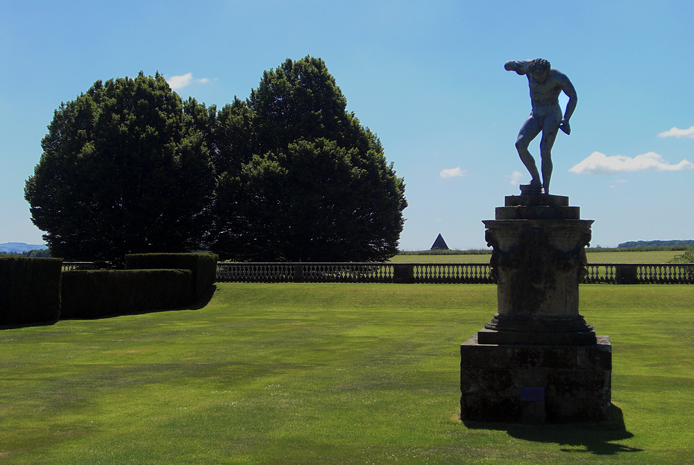 Castle Howard, satyr and pyramid