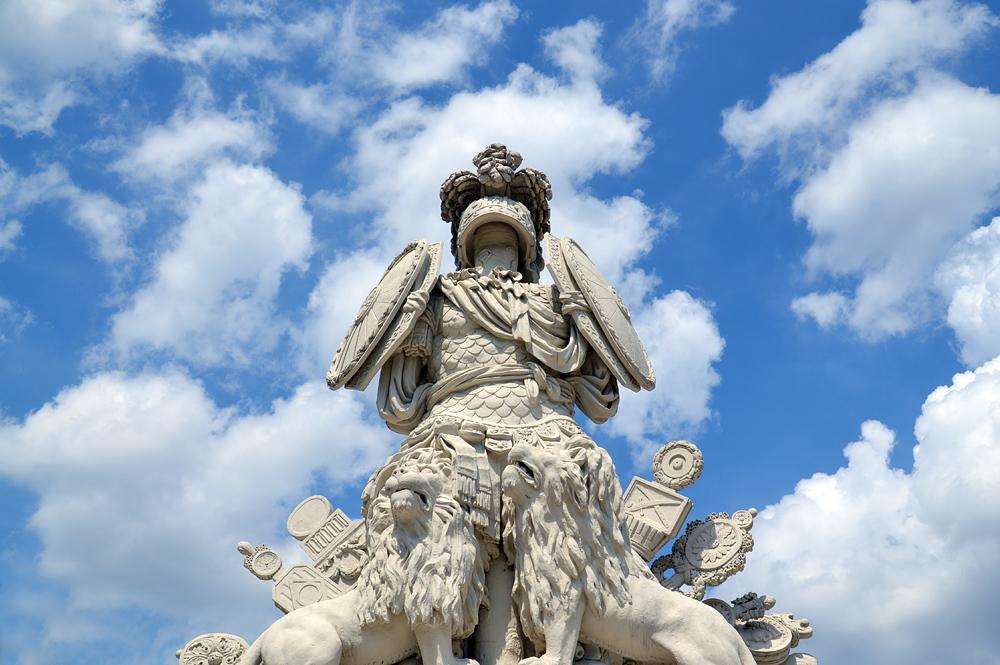 Schloss Schönbrunn, Trophäe an der Gloriette