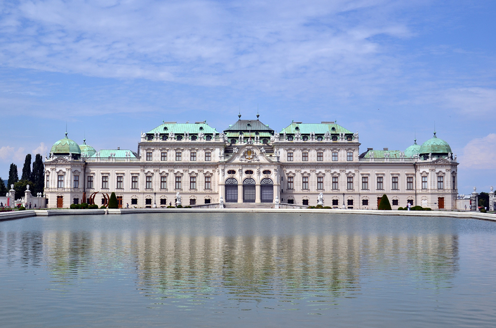 Teich vor dem Oberen Belvedere Wien