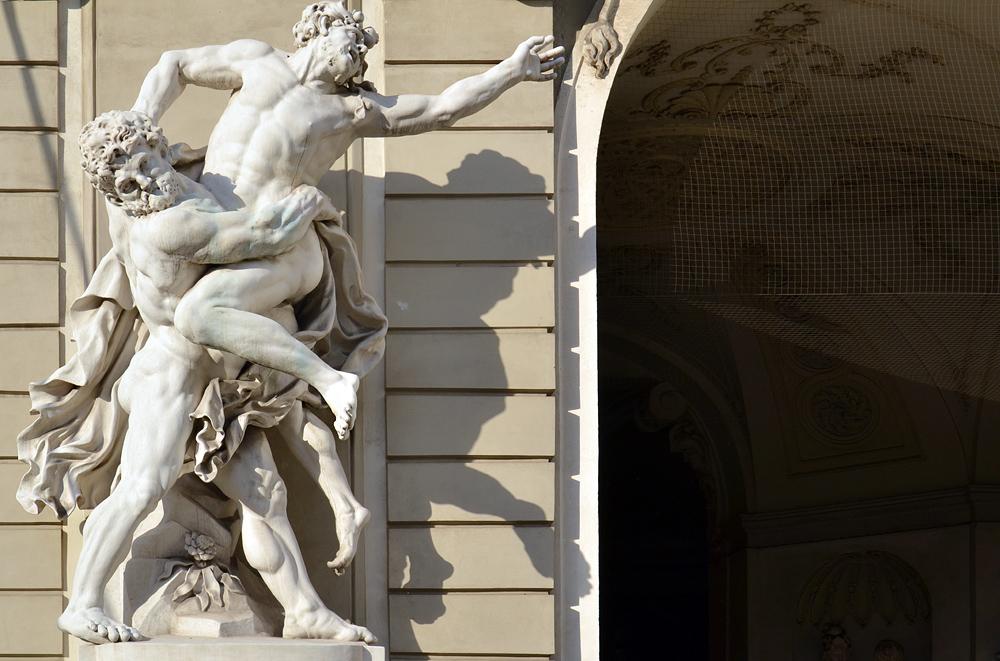 Herkules und Antaeus in der Burg