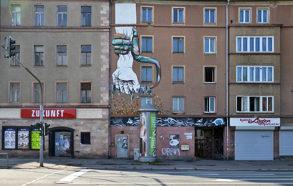 Chemnitz, Leipziger Straße, Street Art