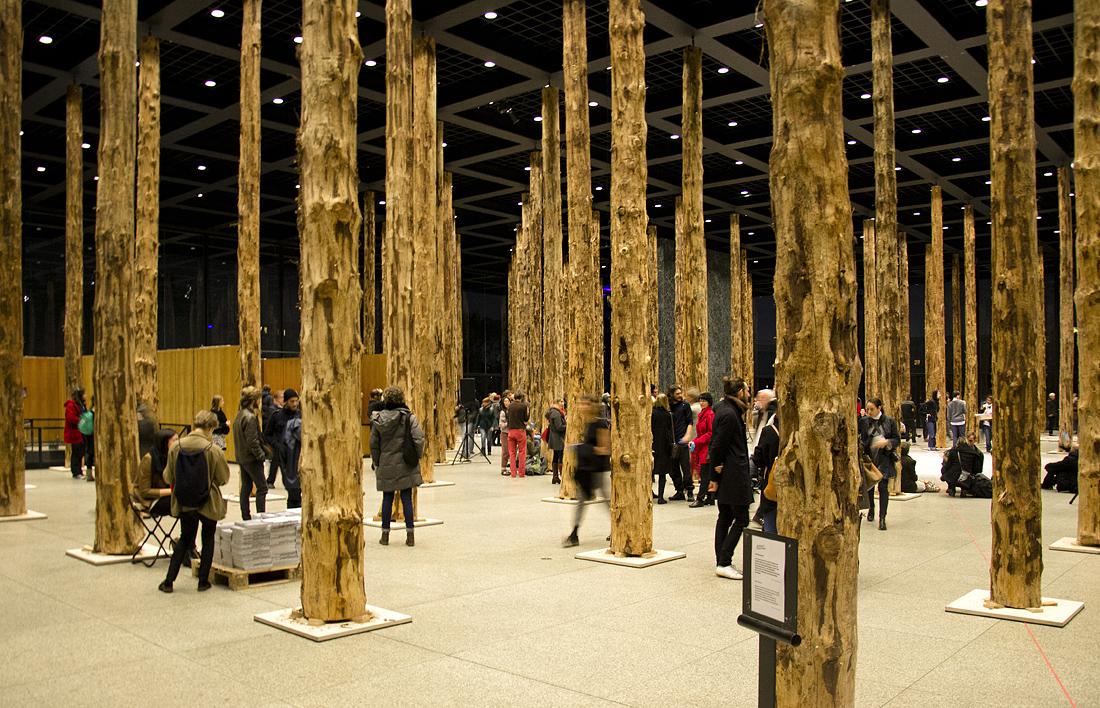Neue Nationalgalerie, David Chipperfield - Sticks and Stones, eine Intervention