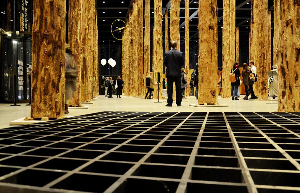 Festival of Future Nows, Andreas Koch, Dach der Neuen Nationalgalerie im Maßstab 1:18