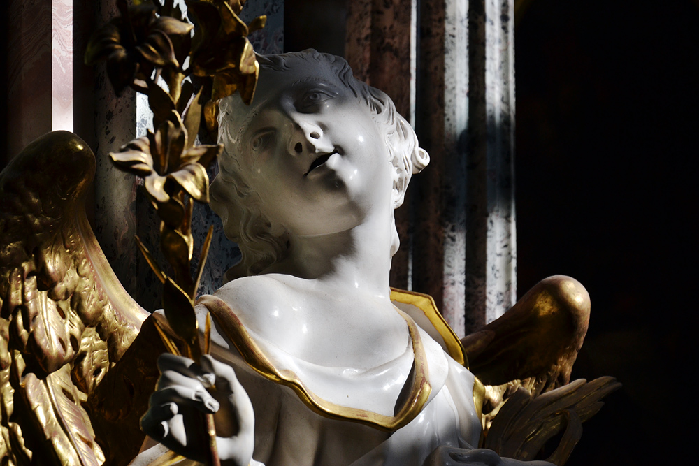 Kloster Neuzelle, Marienaltar mit Verkündigungsengel